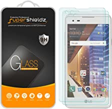 (2 Pack) Supershieldz for LG (Tribute HD) Tempered Glass Screen Protector, Anti Scratch, Bubble Free
