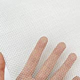 TIMESETL 2 Pack 304 Stainless Steel Woven Wire 8 Mesh, 12'x24'(30cmx60cm) Cabinets Wire Mesh Garden Guard Screen Metal Security Mesh Window Screen Mesh Net