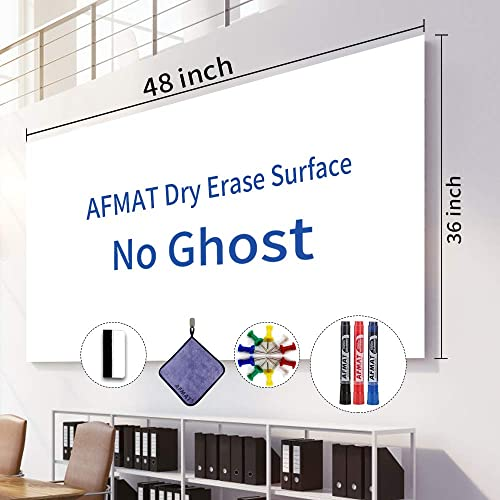 popular White popular Board Roll, 4' x3' Whiteboard Post Paper, 48 x 36 inches Dry Erase Contact Paper, AFMAT Whiteboard Sticker Paper Sheets, Stick on Dry online Erase Board for Wall, Table, Doors, 3 Markers, No Ghost online sale