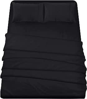 Utopia Bedding 4-Piece King Bed Sheets Set (Black)