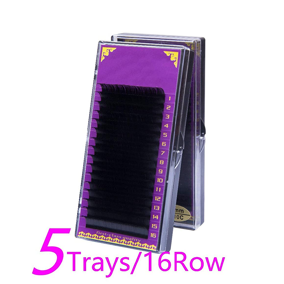 5pcs/set J B C D Curl Mink Eyelash Extension natural False Eyelashes individual eyelashes soft lashes C 0.10mm 12mm x 5 trays