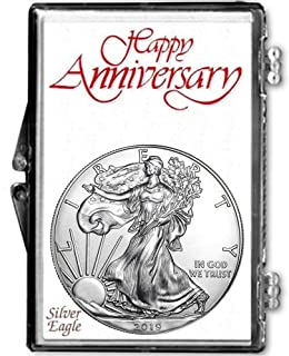 2019 - American Silver Eagle in Anniversary Holder Dollar Uncirculated Us Mint