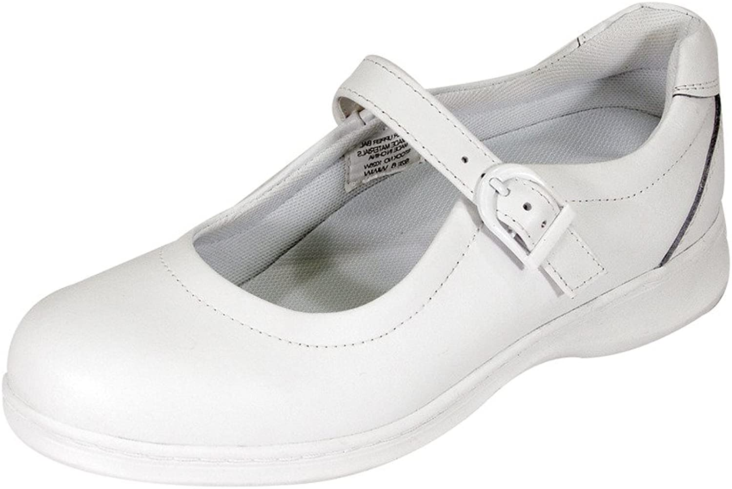 24 Hour Comfort Cara Women Wide Width Adjustable Buckle Step in Mary Jane shoes (Size Measurement Guide)