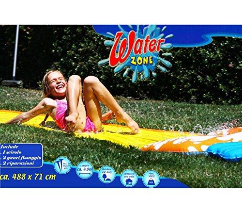 Scivolo ad acqua WATER ZONE per bambini e adulti 488 x 71 cm tappeto acquatico. MEDIA WAVE store