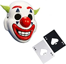 Joker 2019 Clown Mask, Arthur Fleck, Joaquin Phoenix, Joker Movie Halloween Mask White