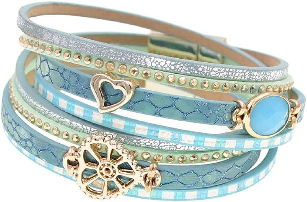 Leather Bracelets Deluxe Glass Bracelet Wrap Wome For Latest item