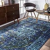 nuLOOM Reiko Vintage Persian Area Rug, 6' 7' x 9', Blue