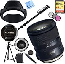 Tamron SP 24-70mm f/2.8 Di VC USD G2 Lens for Canon Mount Bundle with TAP-in Console Lens Accessory, 64GB Memory Card, 60 Inch Tripod, Monopod, 82mm Filter Kit, Lens Cleaning Pen, Lens Bag and Cloth