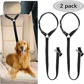 CGBOOM Lot de 2 ceintures de sécurité pour chiens réglables pour voiture, double..