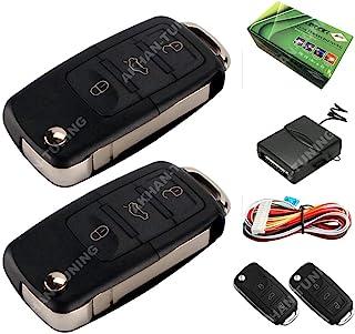 Akhan 100F60   Funkfernbedienung Klappschlüssel für vorhandene original Zentralverriegelung, mit 2 Handsender geeignet für pneumatische, elektrische u. nachträglich eingebaute Zentralverriegelungen