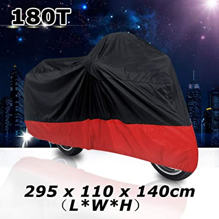 Motorcycle Cover For Honda Goldwing 1100 1200 1500 1800 XXXL Outdoor Black+Red