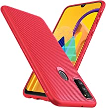 Designed for|Samsung*Galaxy*m30s*black*mobiles*phones*cover*covers*rugged*case*protector*ultra*slim*rubber*armor*ring*ka*backcase* hammer*bumper*stand*army*backcover*silicon*skin*tpu*pouch* protection**shockproof*(Line-Red)