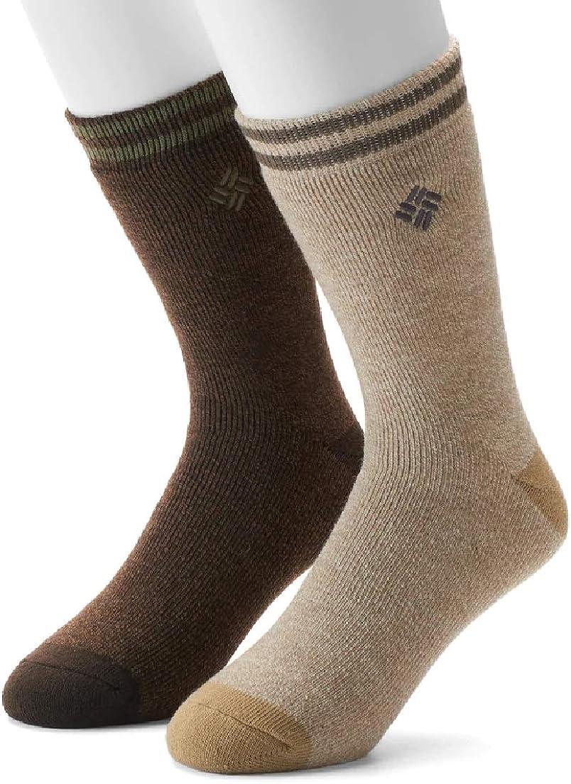 Columbia MENs 2-pack BOOT Crew Socks, SIZE 9-12