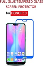 Dashmesh Shopping® 3D Tempered Glass ShatterProof (Full Body Glue) (Edge to Edge) Screen Protector for Honor 10 (Blue)