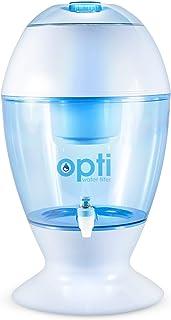 Opti Drop 3 Gallon Alkaline Water Filter Purification Machine - Countertop Dispenser Naturally Enhances Alkalinity Up to p...