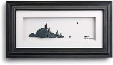 DEMDACO Sharon Nowlan Four of Us Espresso Finish 15 x 8 Dimensional Framed Wall Art Plaque