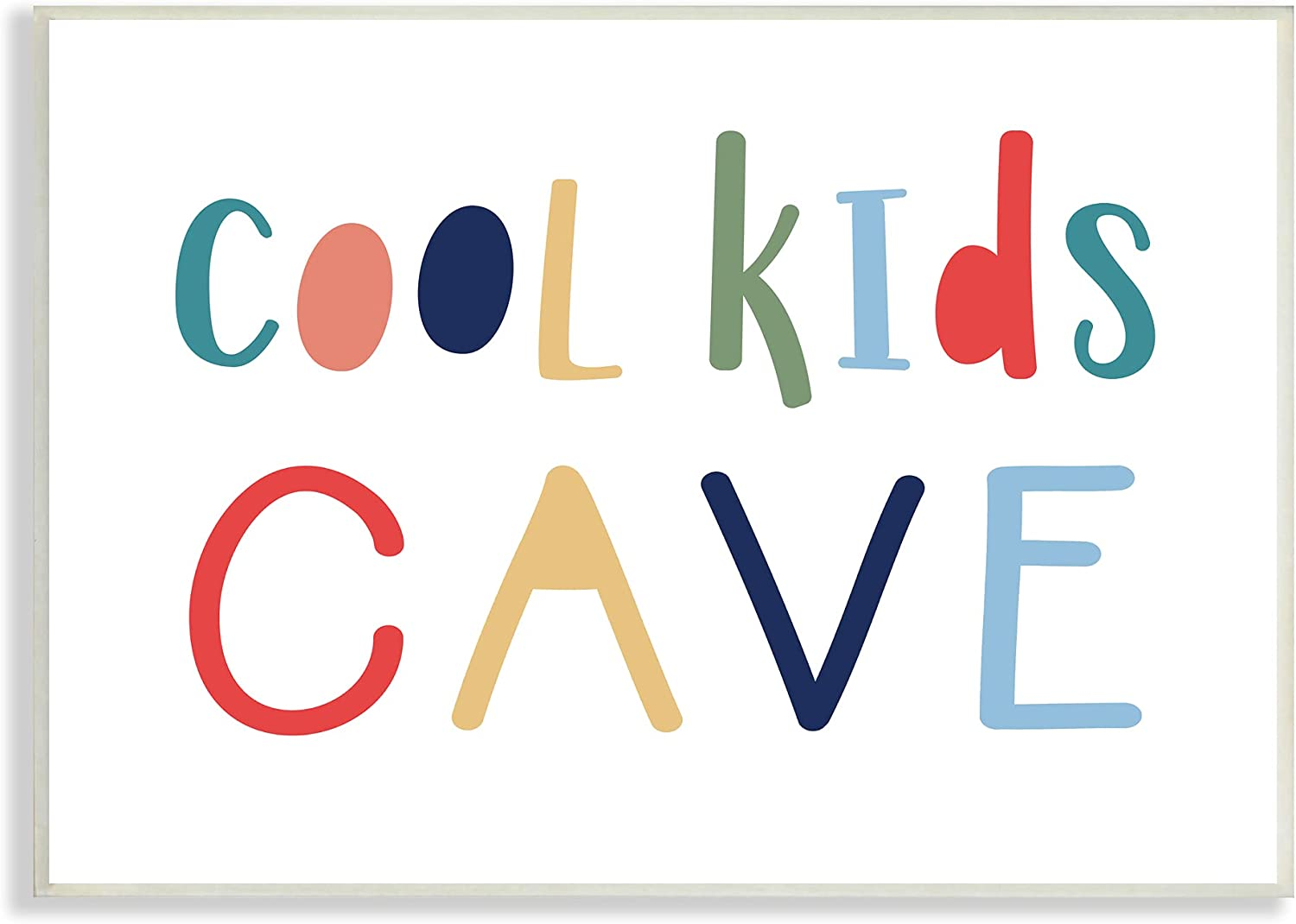 Stupell Industries Cool Kids Cave Sign Children's Playful Typogr Max 41% OFF 2021