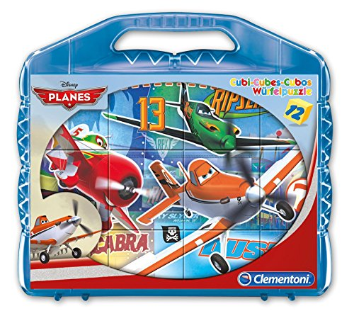 Clementoni 41172 - Valigetta con Cubi Planes, 12 Pezzi
