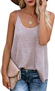 Women Oversize Scoop Neck Tank Tops Causal Sleeveless...