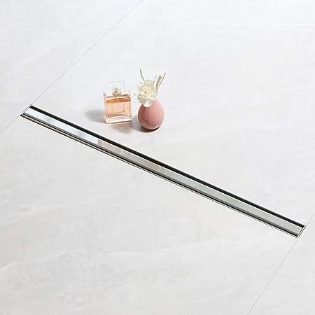 Sanite Modar Canaleta de Ducha de Sifón 360° con dispositivo desodorante y filtro de pelo, Canal de Drenaje de 70cm…