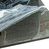 SOFIALXC Tablero de Fibra de Carbono Carbono de 100% de Placa Laminado Superficie Lisa for Drone, etc.-200mmx500mm-3mm