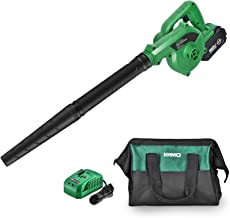 K I M O. Cordless Leaf Blower – 20V 4.0 Ah Lithium Battery Powered Lightweight, Compact 2 in 1 Sweeper & Vacuum for Cleari...