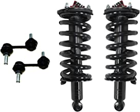 Detroit Axle - Complete Front Strut & Coil Spring Assembly Set & Stabilizer Sway Bar Links for - 2004-2010 Infiniti QX56 - [2005-2014 Nissan Armada] - 2004-2015 Nissan Titan