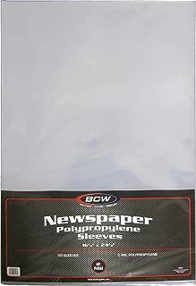 BCW Newspaper 2-mil Polypropylene Sleeves 16