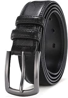 Mens Belts Leather Big and Tall Dress Belts for Men Brown Black Tan Boys Belt 1.25 inch Width COOLERFIRE