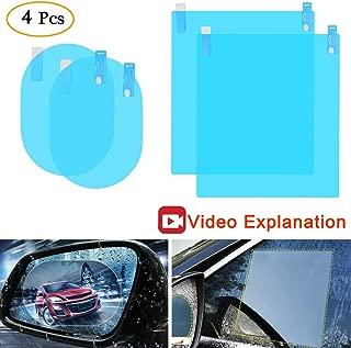 Anti Fog Film Car Rear View Mirror Waterproof Film Protective Film Anti Glare Rain-Proof Anti Water Mist, HD Nano Film Anti-Glare, Anti-Scratch, Rainproof