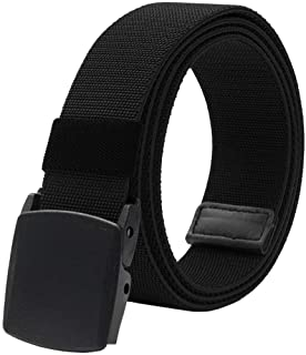Men's Elastic Stretch Belts for Men with No Metal Plastic Buckle for Work Sports