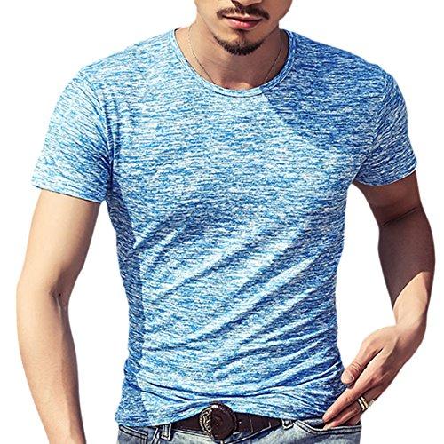 ZUMUii Butterme Couteau d'été Modale T-Shirt à Manches Courtes Classics Chemise de Base pour Hommes en différentes Couleurs