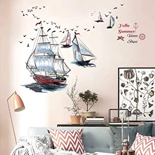 Gemälde Kunst Boot Meer Wandtattoo Wandsticker Wandaufkleber C1616
