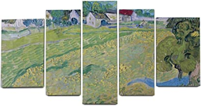 Bedroom Modern Artworks Wall Art 5 Pieces Painting Canvas View of Vessenots Near Auvers Van Gogh Landscape for Living Room Home Office Decor Keepers Giclee Print