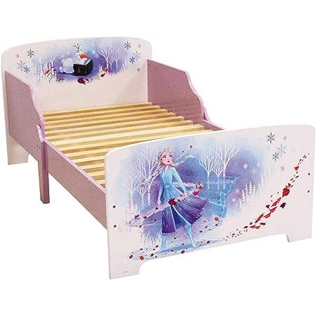 FUN HOUSE 713185 Disney Reine des NEIGES Lit 140 x 70 cm pour Enfant, Panneau de Particules, Violet, 1 Personne