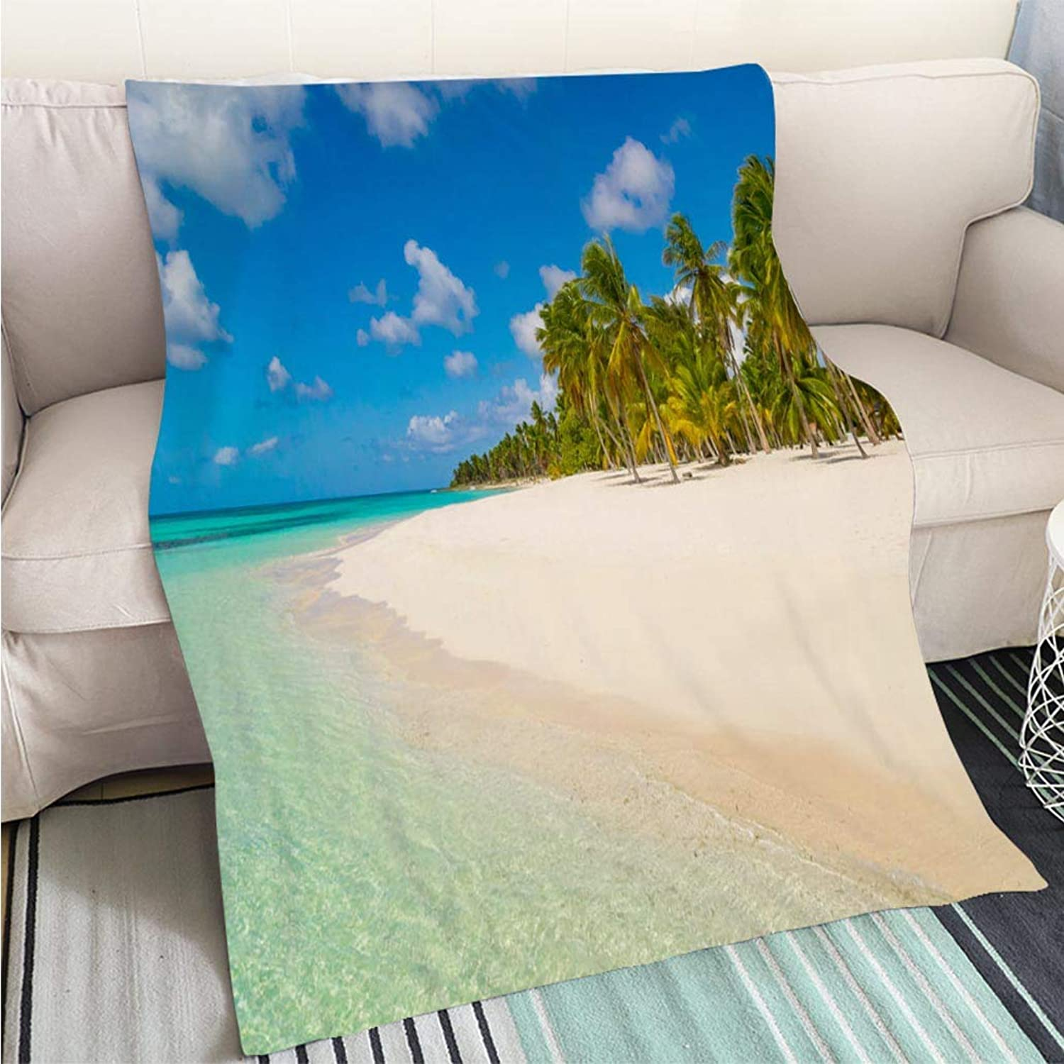 BEICICI Luxury Super Soft Blanket Dominican Republic Dream Beach Perfect for Couch Sofa or Bed Cool Quilt