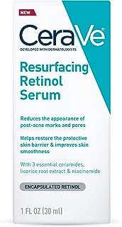 CeraVe Retinol Serum for Post-Acne Marks and Skin Texture | Pore Refining, Resurfacing, Brightening Facial Serum with Retinol | 1 Ounce