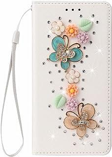 TYWZ Glitter Wallet Case voor Samsung Galaxy S20 FE, Bling PU Lederen Flip Case Portemonnee Beschermende Bumper Cover 3D H...