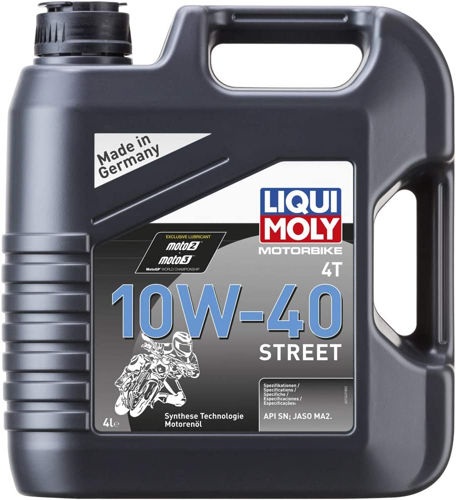 Liqui Moly 1243 Moto 4T 10W-40 Calle, BOOKLET, 4 L