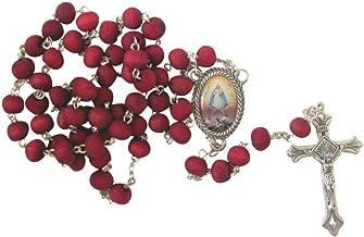 Gifts by Lulee, LLC La Caridad Del Cobre Rosario Hecho De Petalos De Rosa Incluye Tarjeta De Rezo Bendecida Santidad