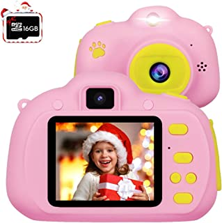 [Christmas Kids Gift] Kids Camera,RegeMoudal Kid Digital Cameras for Girls or Boys Age 3-12,1080P HD 8MP Shockproof Cameras Great Gift for Kids (16G SD Card Included)