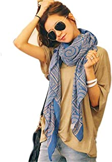 HANYI Women Vintage Long Soft Printed Scarves Shawl Wrap Scarf