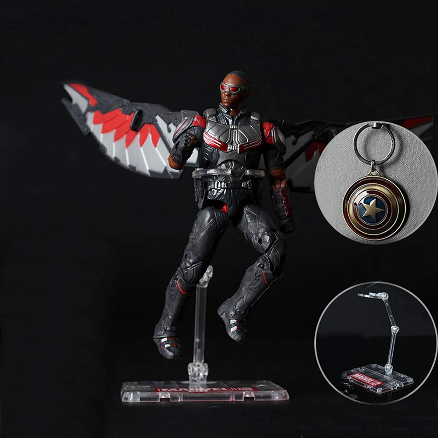 Qivor Toy Statue Mantra Avengers Model Toy Falcon Model Toy 17CM