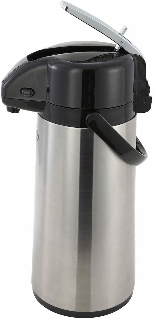 Ranking TOP10 Winco Glass Lined Airpot 2.2-Liter Lever Top Jacksonville Mall