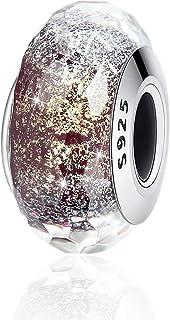 925 Sterling Silver Fascinating Murano Glass Charm Beads for Women Girls Bracelets & Bangles