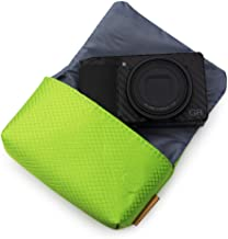 kinokoo Camera Bag Compatible for Sony RX100 Series, Ricoh GR Series, Canon G7X II/G9X II/SX740 HS Ultralight Camera Bag with Magnetic Snap Closure (Green)