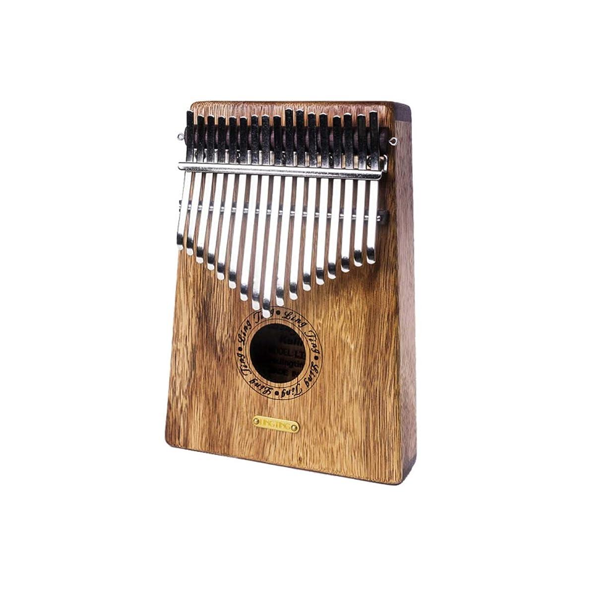 美人バレル前投薬ポータブル親指ピアノ17キーピアノ初心者指ピアノマホガニー、竹ボディ、初心者に適した、高度なパフォーマー、最高の贈り物 (Color : A)