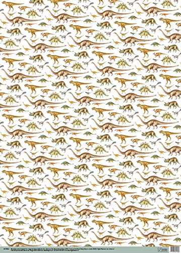 Musea & Galerieën Inpakpapier - Dinosaurussen Design x 4 Vellen (347028-AA)
