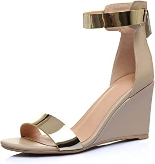 Genuine Leather Sandalias Mujer 2019 Wedges Shoes for Women Soulier Femme Calzado Mujer Size 34-42 ZYL2534