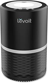 LEVOIT Air Purifier for Home Smokers Allergies and Pets Hair, True HEPA Filter, Quiet in Bedroom, Filtration System Cleaner Eliminators, Odor Smoke Dust Mold, Night Light, Black, 2-Yr Warranty,LV-H132 (Renewed)